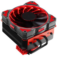 JONSBO CR 101 CPU Cooler (multi platform / 4 heat pipe / blown CPU heat sink / PWM / 12CM red LED fan / with silicone grease)