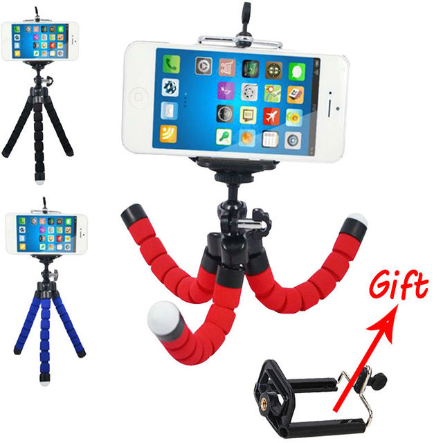 US $3 0 |SAQN Universal Compact Flexible Holder Octopus Tripod Bracket  Stand Mount Monopod for Smartphone / GoPro Hero All Versions-in Tripods  from