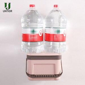 Image 3 - UNTIOR קיר רכוב פח אשפה ביתי מטבח פלסטיק נייד אחסון דלי פסולת סל Creative אמבטיה עם מכסה פח אשפה