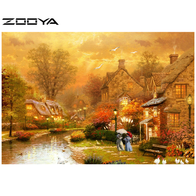 b8cb5da595 ZOOYA DIY 3D Diamond Painting Medieval Europe Lady Home Decor Creative Gift  Hand Embroidery Cross Stitch Art Craft AT116