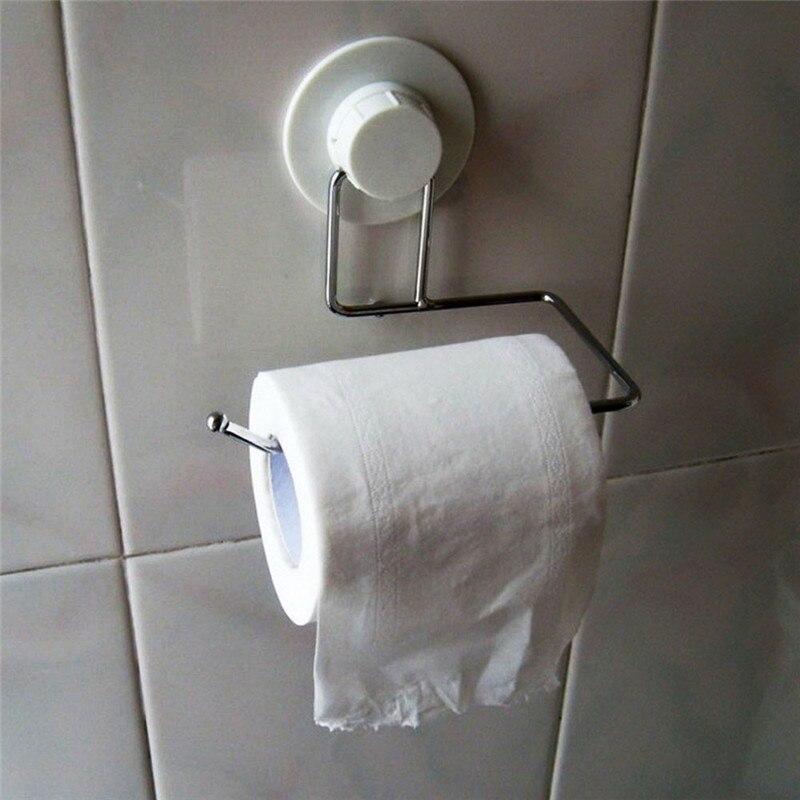 Toilet Tissue Paper Tower Shelf Holder Bathroom Suction Hanger Rack Kitchen Hook DIY Bathroom Shelves Single Tier Drop Shipping
