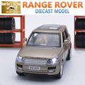 15 СМ Длина Diecast Автомобиля Range Rover, 1:32 Масштаб Модели, мальчики/Дети Игрушки С 6 Открывающиеся Двери/Вытяните Назад Функция/Музыка/Подарочная Коробка