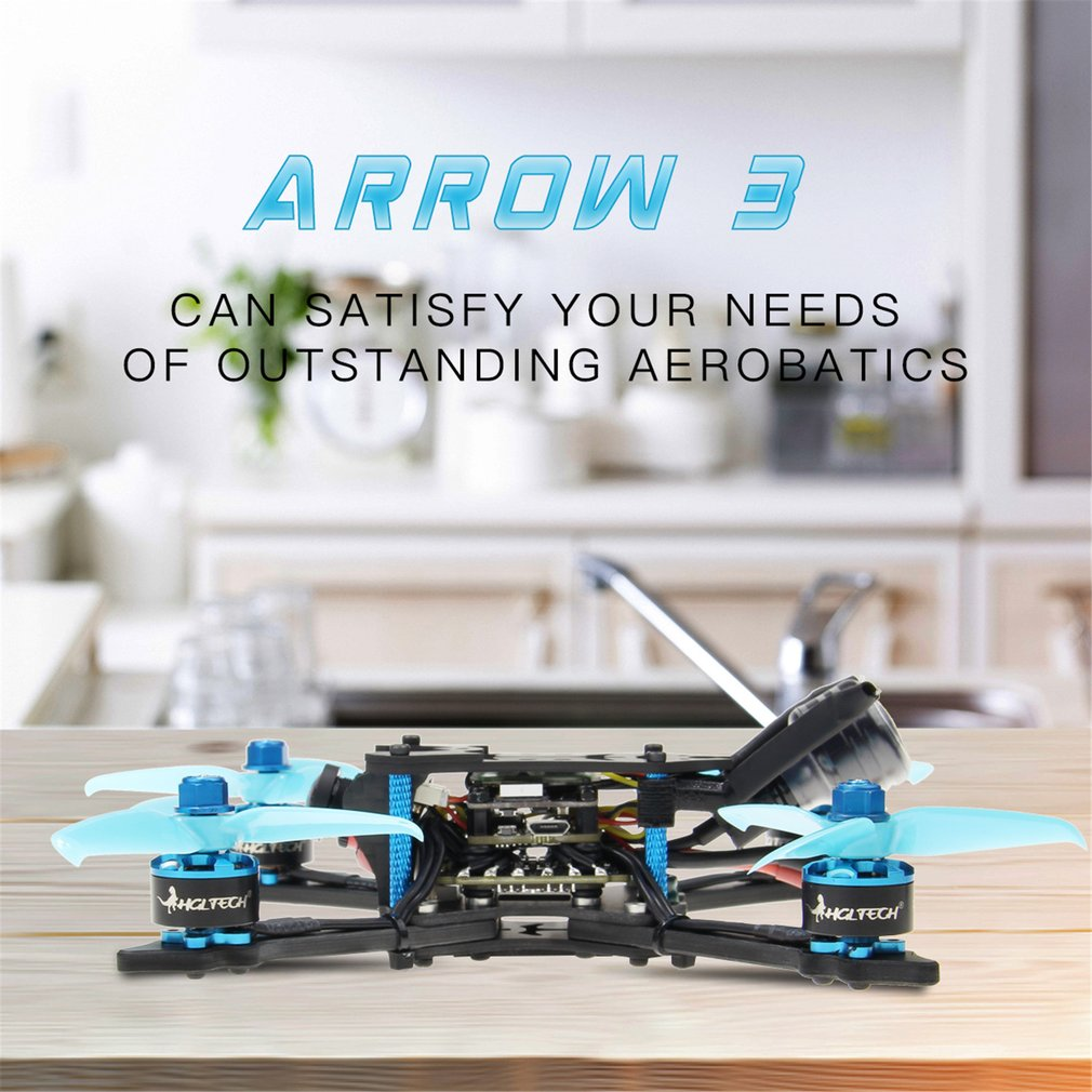HGLRC Arrow 3 FPV Racing Drone 6S PNP Quadcopters With Frsky XM+ Receiver F4 FC 1408 Motor 45A Blheli32 Caddx Ratel Camera Lahore