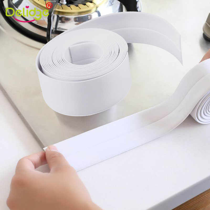 Kitchen Sink Bathroom Waterproof Mold Proof Adhesive Tile Crack Mildew Resistant Tool PVC Wall Sealing Tape Repair Mildew Tape