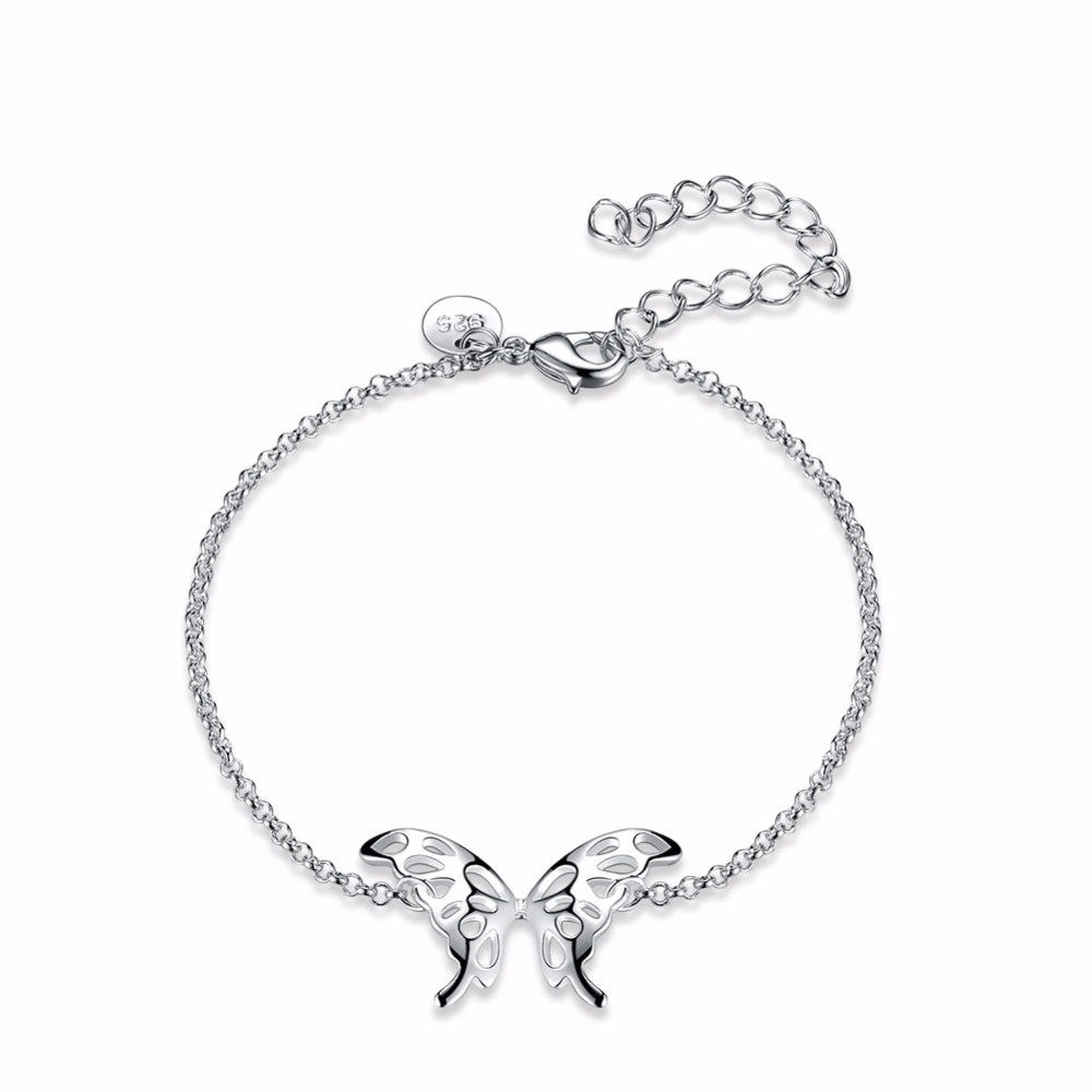 Hot Sale Cute Children Beautiful Butterfly Charm Bracelet For Girls