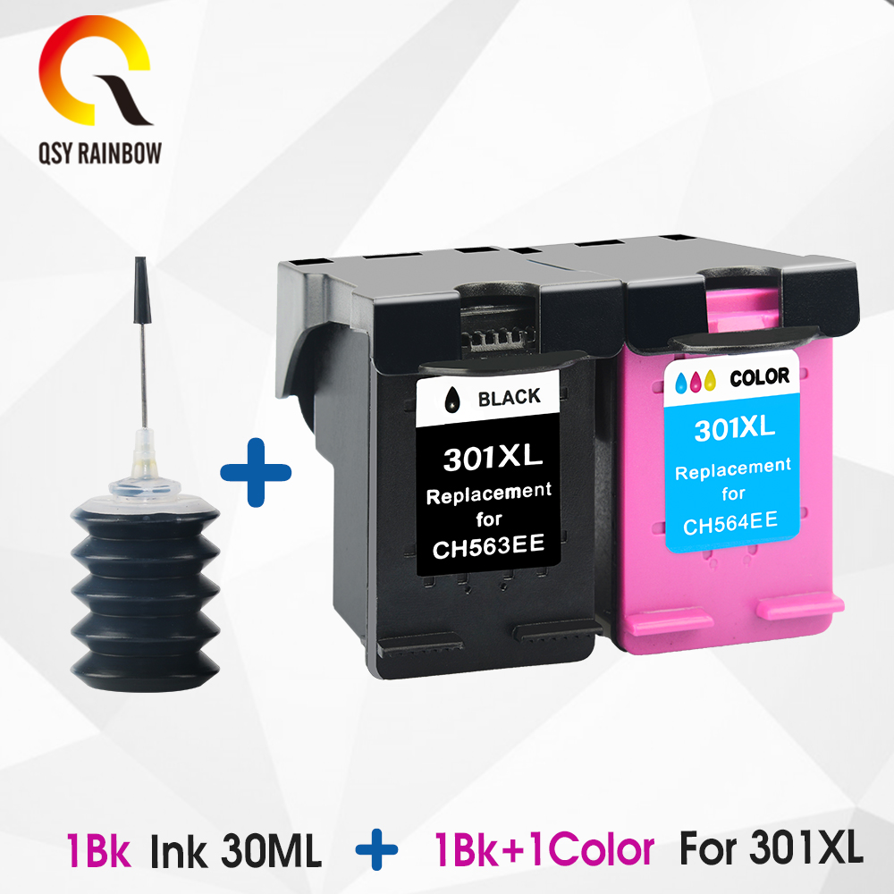 CMYK SUPPLIES Ink Cartridges Remanufactured For HP 301 XL HP301 <font><b>HP301XL</b></font> 301XL Envy 4500 4502 4504 4505 5530 5532 5539 Inkjet image