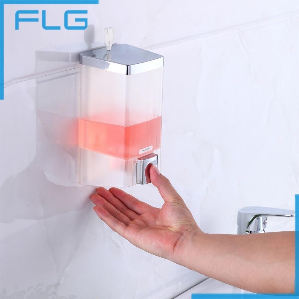 cheapest 700ml soap dispenser wall mounted soap shampoo dispenser shower helper for bathroom hospital hotel supply