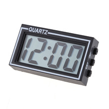 Mini Lighted Digital Car Clock Auto Car Truck Dashboard Date Time Calendar Black High Quality Vehicle Electronic Digital Clock