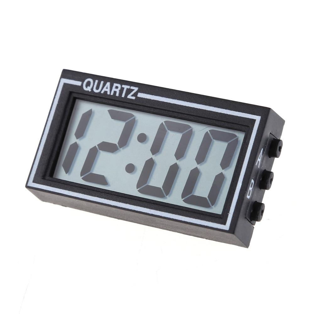 Mini megvilágított digitális autó óra Autó teherautó műszerfal Dátum Idő Naptár Fekete Kiváló minőségű jármű elektronikus digitális óra