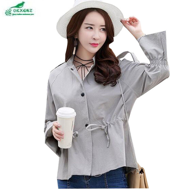 c04abd1900592 OKXGNZ Spring coat women 2019 new fashion women short jacket coat female  Korean spring profile wild