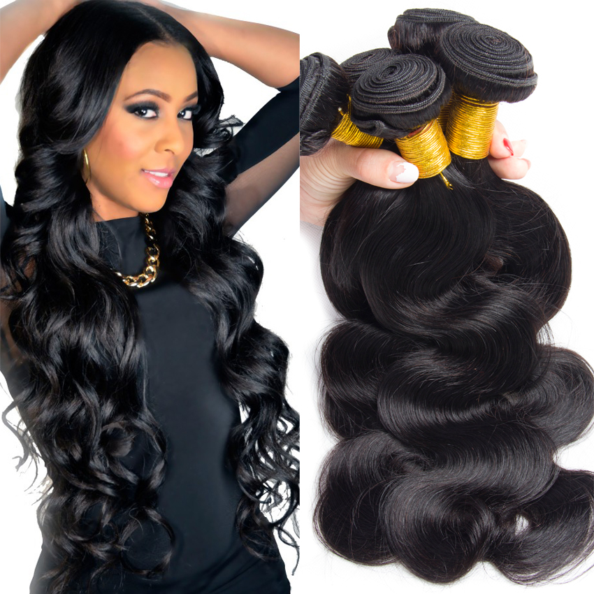 Brazilian Virgin Hair Body Wave 3pcs 1b Unprocessed Virgin