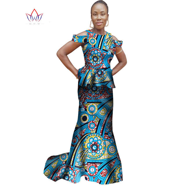 f77b38b92de Summer Women Dress Sleeveless Trumpet Mermaid Dress Maxi Dresses Ankara  Fashions Dashiki African Women Clothes 6XL