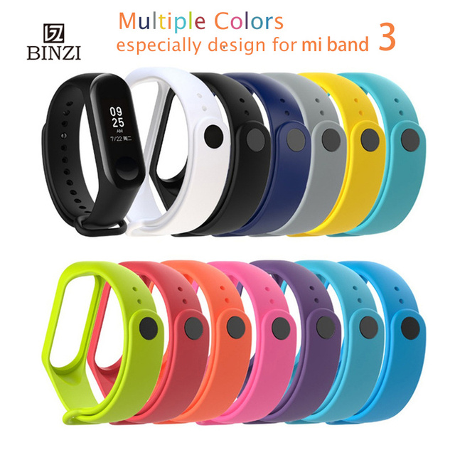 Wrist Strap For xiaomi Mi Band 3 Accessories Bracelet Silicone Strap For Mi Band 3 Miband 3 Wristband Replacement Watch band New