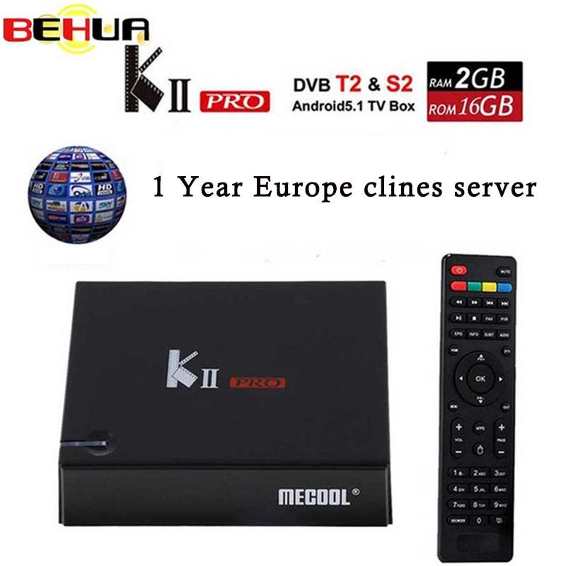 KII PRO DVB-S2 DVB-T2 S905d Android 7.1 TV Box Quad Core 2 gb 16 gb K2 pro DVB T2 S2 4 k Media player NEWCAMD Double Wifi BT4.0 K2PRO