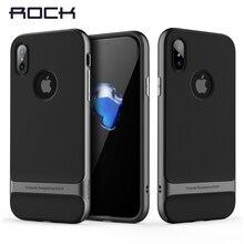 Royce Series cho iPhone X case, Rock Trường Hợp Điện Thoại đối với iPhone X Cover Quay Lại Luxury Lai PC + TPU Mạ Điện Shell cho iPhoneX