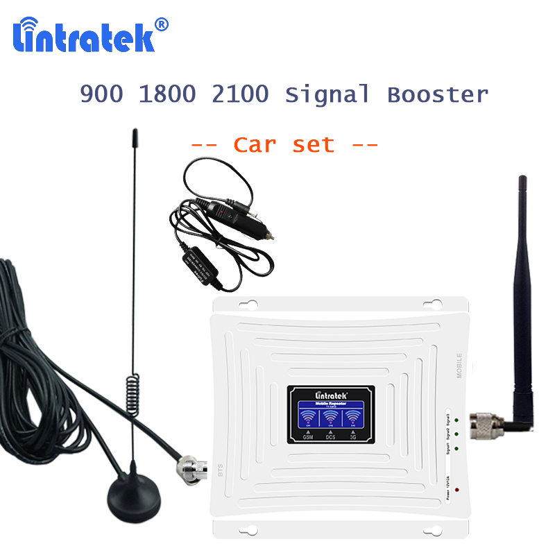 Car Use Signal Repeater 900 1800 2100 mhz GSM Cellular Amplifier Telephone Booster 2G 3G 4G