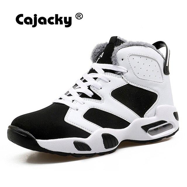 Cajacky גברים מגפי אופנה קרסול מגפי חורף קטיפה Botas זכר גבוה למעלה סניקרס לשני המינים סתיו רשת נעליים יומיומיות חדש ארבע עונות