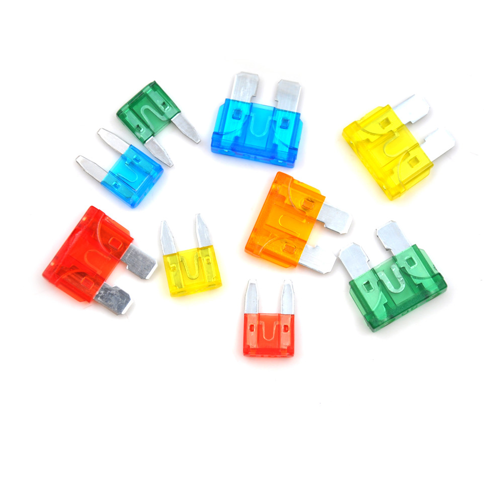 small resolution of 50pcs with box auto car blade fuse box kit motorcycle suv boat truck automotive blade fuse