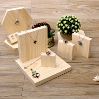 lot of 5 Solid Wood Jewellery Display Block Nature Jewelry Display Holder Jewelry Display Block