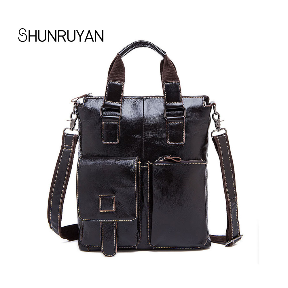 SHUNRUYAN Leisure style Fashion Genuine Leather Men Bag Messenger bags casual Men's Travel bag crossbody shoulder bag jason tutu promotions men shoulder bags leisure travel black small bag crossbody messenger bag men leather high quality b206