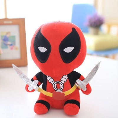 12cm Q Version X-men Deadpool Movie Action Figure Plush Toys wholesale children birthday present free shipping 1pcs