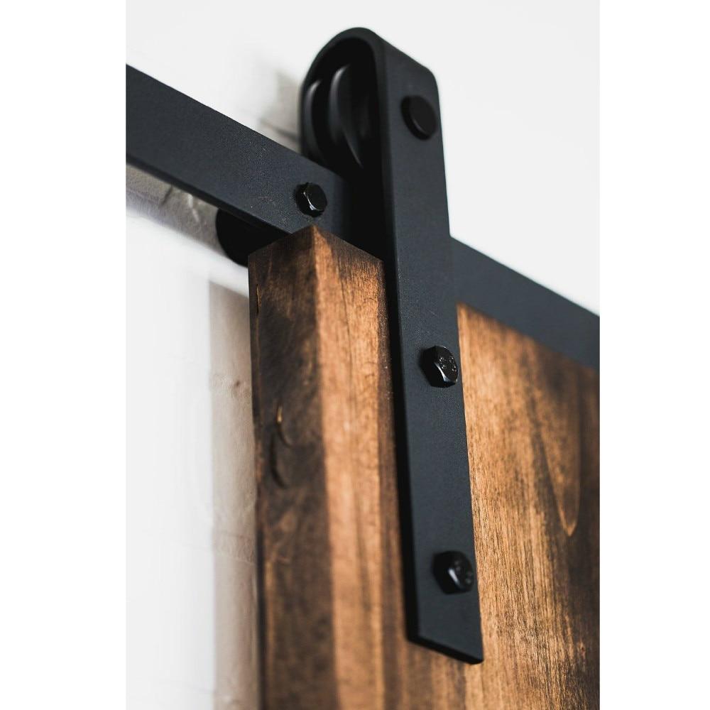 6.6FT American interior madera deslizante Puerta de Granero hardware ...