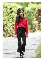 Girls' autumn trousers new 2018 medium and large children's leggings leisure bell trousers Korean version of children's wear