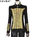 Napoleón Militar Chaqueta de La Vendimia de Oro Adornado Chaqueta Blazer Doble de Pecho de Lana Chaqueta Militar Napoleón TOP149-5