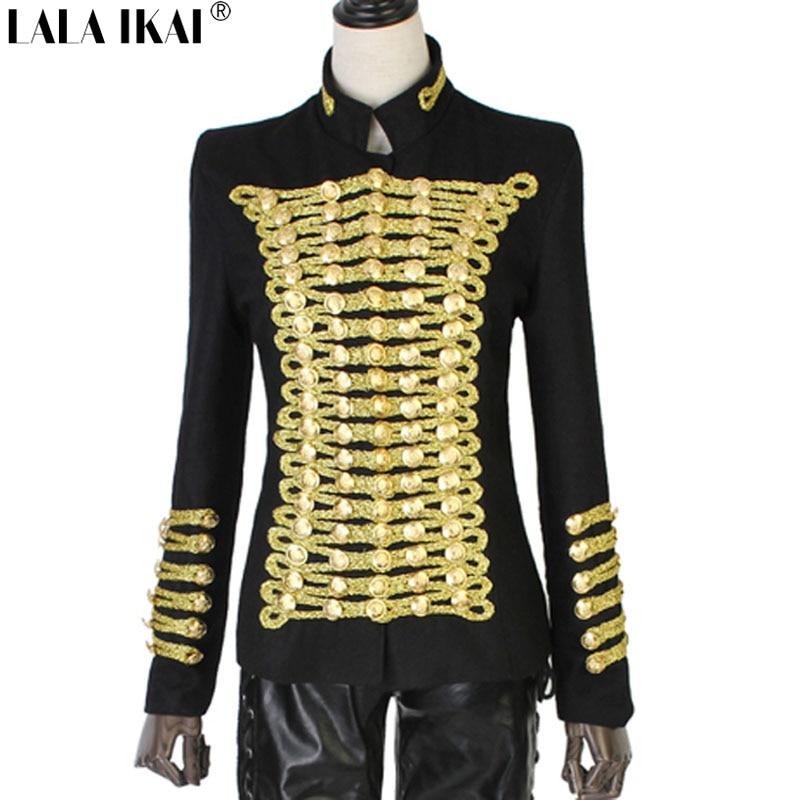 Aliexpress.com : Buy Napoleon Military Blazer Vintage Gold ...