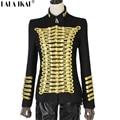 Napoleon Military Blazer Vintage Gold Embellished Jacket Napoleon Wool Blazer Double Breasted Military Jacket TOP149-5