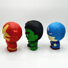 Squishy Cartoon The Avengers PU Simulation Superman Hulk iron Man Slow Rising Soft PU Simulation Rebound Stretchy Squeeze Toys цена 2017