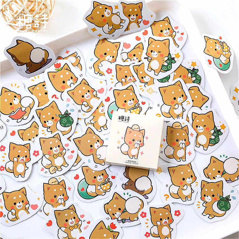 45 adet/kutu Kawaii toshiba kırtasiye yapışkan etiket Kawaii günlüğü el yapımı yapışkanlı kağıt pul japonya Sticker Scrapbooking
