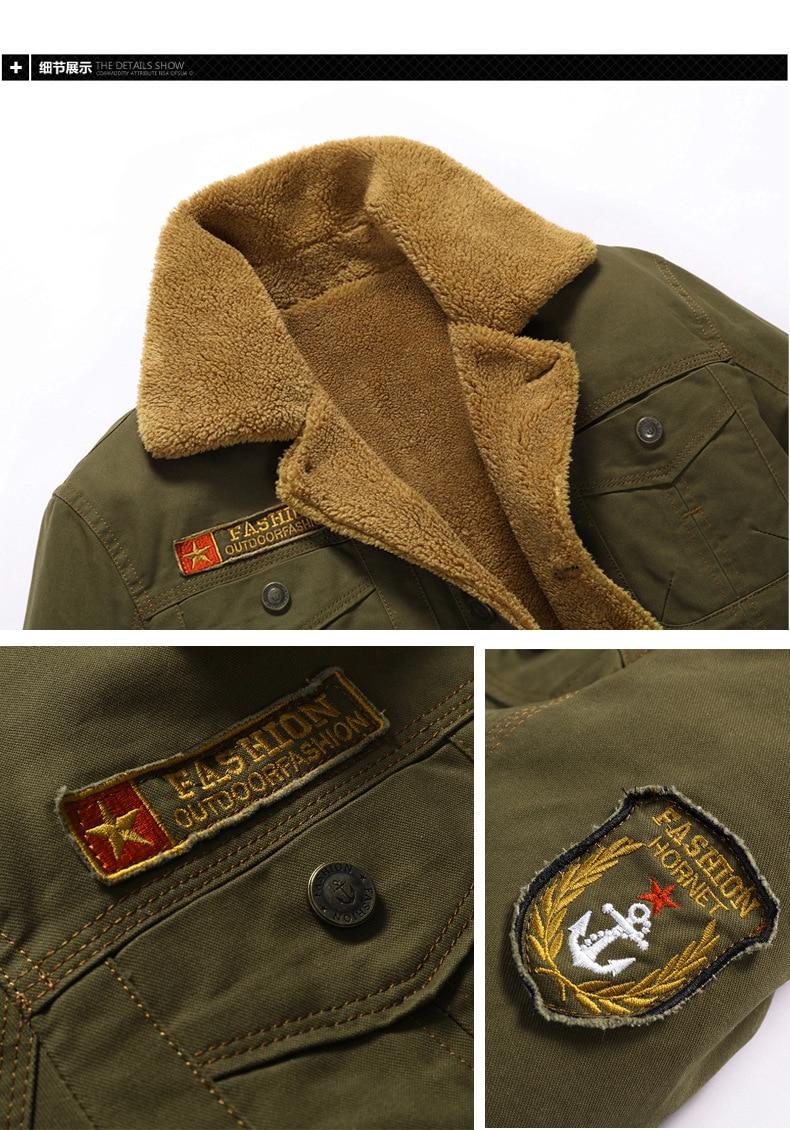 HTB1WtsQliqAXuNjy1Xdq6yYcVXaD 2019 Winter Bomber Jacket Men Air Force Pilot MA1 Jacket Warm Male fur collar Mens Army Tactical Fleece Jackets Drop Shipping