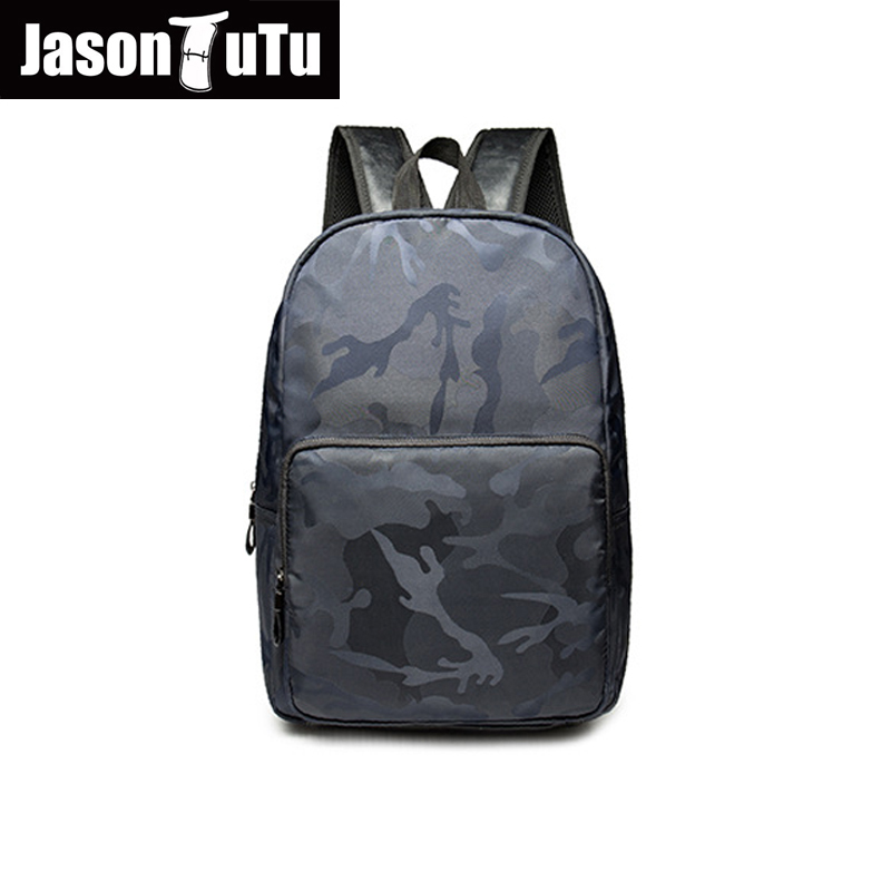 JASON TUTU laptop backpack / High quality PU black backpack school back pack /2017 promo ...