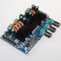 35 Electronic Bluetooth TF USB Decoding 2 1 Channel Digital Power Amplifier Board 2 1 Digital