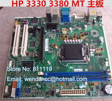 Free shipping original desktop motherboard for 3330 3380 MT SFF 694617-001 660512-001 H61 DDR3 LGA1155 mainboard