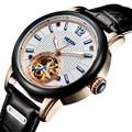 Schweiz Luxus Marke Nesun Skeleton Tourbillon Uhr Männer Automatische Selbst Wind männer Uhren Echtem Leder uhr N9033 5-in Mechanische Uhren aus Uhren bei