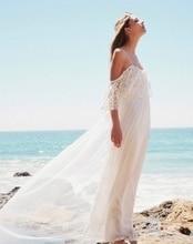 Simple 2016 Plus Size Beach Wedding Dresses with Lace Cap Sleeve with Court Train Bride Gowns Vestidos De Novia Custom ZY3380