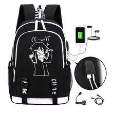 Anime Noragami ARAGOTO Luminous Backpack Fashion Cartoon YATO Rucksack Men Students School Bags USB Mochila