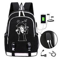 Anime noragami aragoto luminoso mochila moda dos desenhos animados yato mochila estudantes dos homens sacos de escola usb Mochilas     -