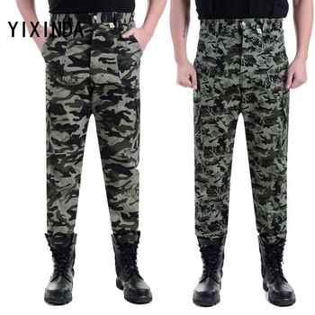 YIXINDA Brand Large size casual men's camouflage pants outdoor sport pants, harlan pants, multi-pocket overalls