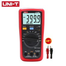 UNI-T Multimeter UT136B+ UT136C+ Digital AC/DC 1000V 10A Volt Amp meter Temperature NCV Tester Large LCD Dual Display