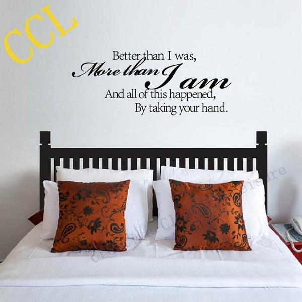 Romantic Bedroom Wall Decor: Aliexpress.com : Buy Lovers Romantic Wall Stickers