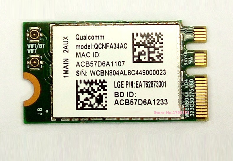 SSEA New for Atheros QCNFA34AC 802.11AC NGFF M.2 Wireless WiFi Bluetooth 4.0 card Dual Band 2.4Ghz/5Ghz 433Mbps