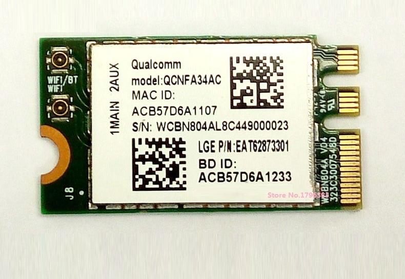 SSEA al por mayor venta al por mayor nuevo para Atheros QCNFA34AC 802.11AC NGFF M.2 WiFi inalámbrico Bluetooth 4,0 tarjeta Dual Band 2,4 GHz/5 GHz a 433 Mbps