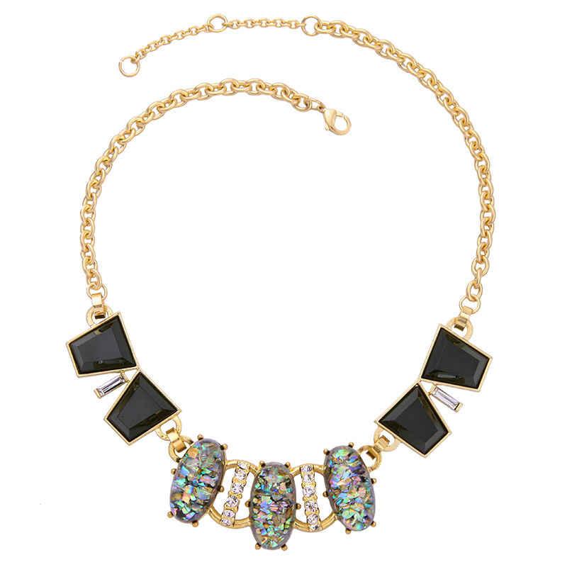 Przesadzone kostium biżuteria oświadczenie duże geometryczne naszyjnik europa styl charms w kolorze złota naszyjnik dla kobiet akcesoria w pudełku