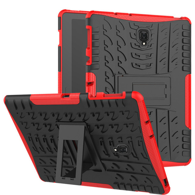 huge discount 6415a 1e92e US $9.51 32% OFF|Case For Samsung Galaxy Tab S4 10.5'' T830 T835 10.5 inch  2018 Tablet Heavy Duty Hybrid Stand Hard PC+TPU Armor cover + pen-in ...