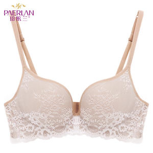 4cc62a6912b4b PAERLAN Seamless Wire Free lace bra small breasts Push Up One - Piece sexy Back  Closure Tow Hook - and - eye underwea Women Cup