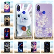 For Xiaomi Redmi 7 Case Ultra-thin Soft TPU Silicone Cover Flowers Patterned Bumper Capa