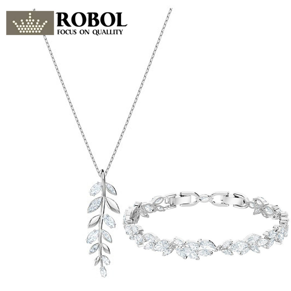 ROBOL 2018 Mayfly pendant, white, silvery plated MAYFLY bracelet Female gifts birthday gifts 5410411  jewelry set